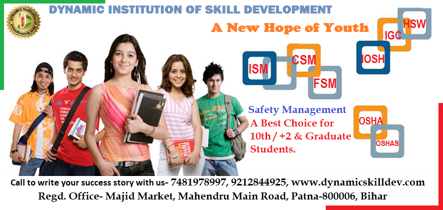 Safety institute in Patna, safety institute training in Patna, safety officer course in Patna, safety officer course training in Patna, Industrial safety training course in Patna, fire safety management, fire safety training in Patna, construction safety institute Patna, online safety course, Best safety institute in Patna, No. 1 safety officer course institute of Patna